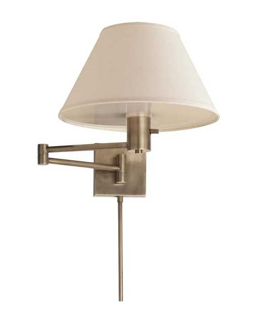 CLASSIC SWING ARM WALL LAMP - ANTIQUE NICKEL - McGee & Co.