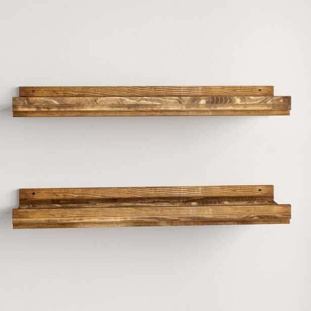 Tishie Floating Shelf 2 Piece Set - Wayfair