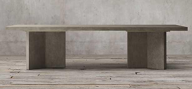 "LUDLOW RECTANGULAR DINING TABLE- Ash Grey Oak 96"" - RH"