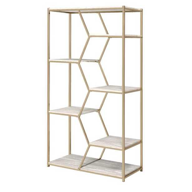 Pateros Geometric Bookcase OOS until 7/1 - Wayfair