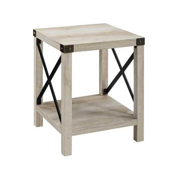 Arsenault End Table with Storage / White Oak - Wayfair