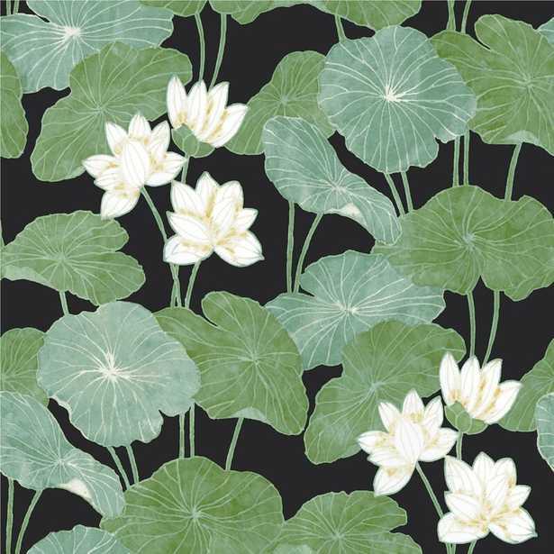 "Circinus Lily Pad 16.5' L x 20.5"" W Peel and Stick Wallpaper Roll - Wayfair"