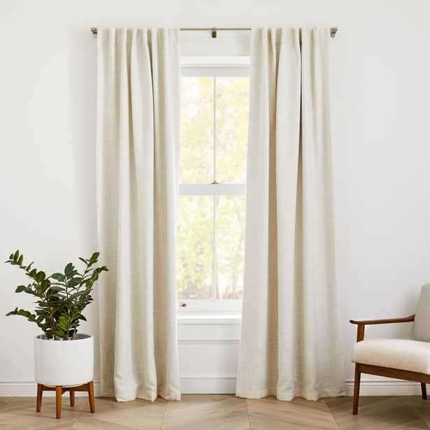 """Crossweave Curtain with Black Out Natural Canvas 48""""x84"""" - West Elm"""