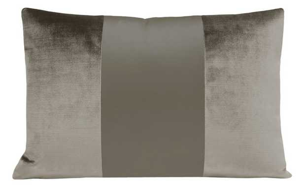 "The Little Lumbar :: MONOCHROMATIC Faux Silk Velvet // Quartz - 12"" X 18"" - Little Design Company"