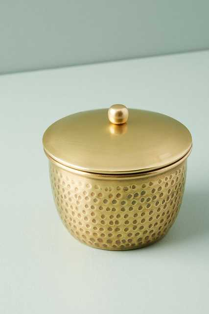 Hammered Brass Bath Collection: Canister - Anthropologie