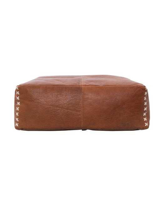 JACKIE LEATHER POUF - McGee & Co.