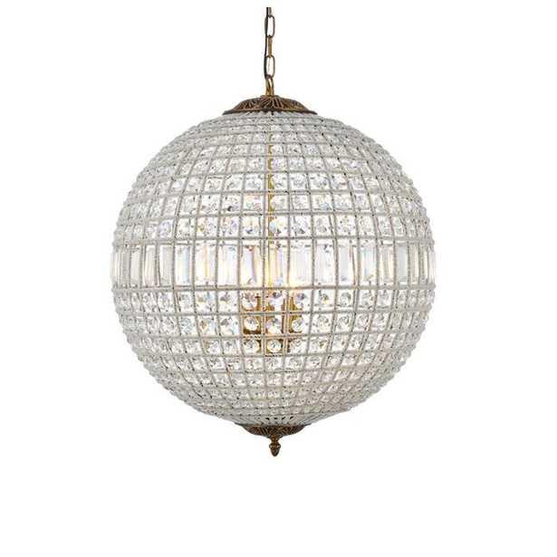 Nazareth 5 - Light Unique / Statement Globe Chandelier with Crystal Accents - Wayfair