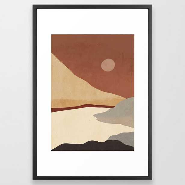 Minimal Landscape 01 Framed Art Print - Society6
