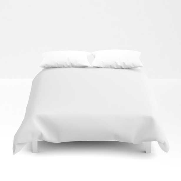 "Queen Duvet Cover - Basics. Solid White Duvet Cover - Queen: 88"" X 88"" - Society6"
