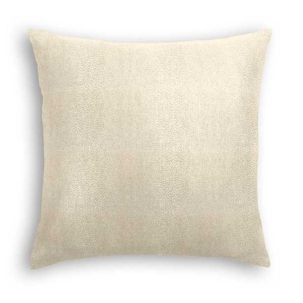 "Throw Pillow Flash Dancer - Champagne- 18"" sq- down insert - Loom Decor"