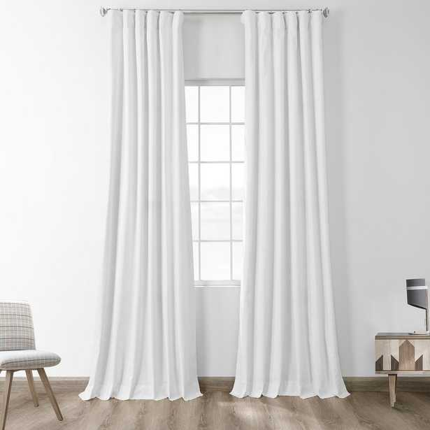 Exclusive Fabrics & Furnishings Fresh Popcorn Ivory Solid Cotton Blackout Curtain - 50 in. W x 84 in. L - Home Depot