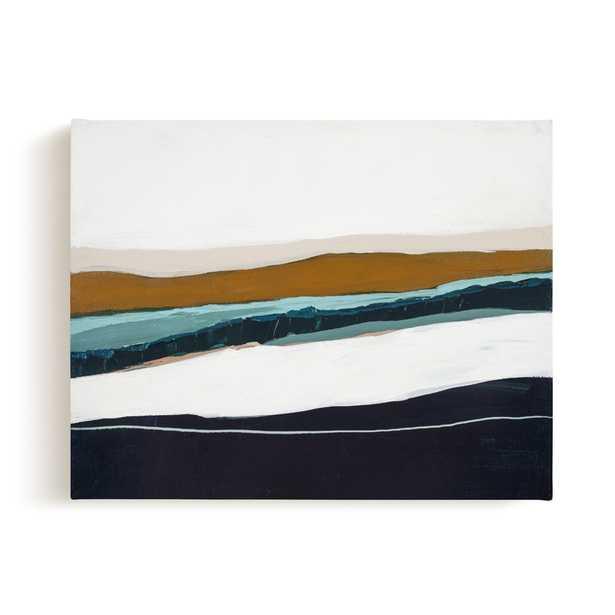 Moonlight Seascape - 14x11 - canvas - Minted