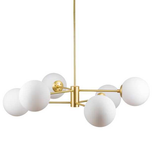 Nyla 6 - Light Sputnik Linear Chandelier - Wayfair