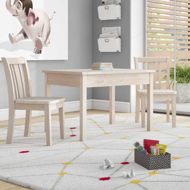Rozanne Kids 3 Piece Rectangular Activity Table and Chair Set - Wayfair
