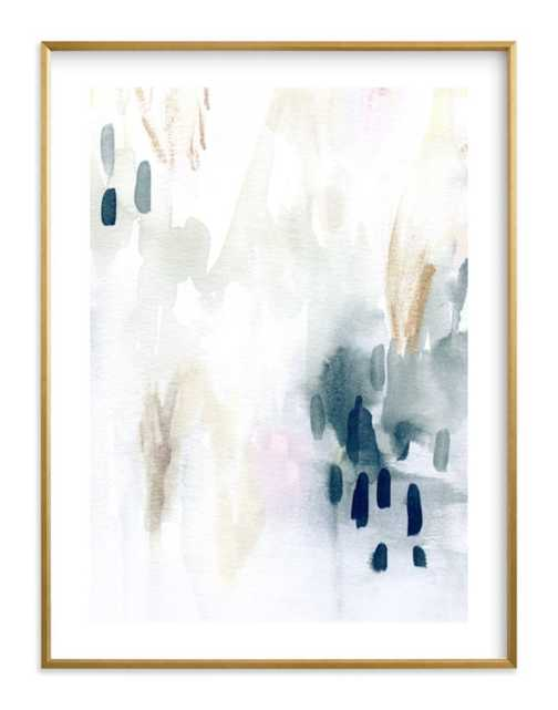 """ever softly framed art print- Size 30"""" X 40""""- Gilded Wood Frame- Midnight- Standard Plexi & Materials- White Border - Minted"""