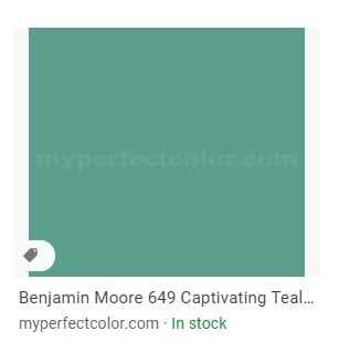 Captivating Teal - Benjamin Moore