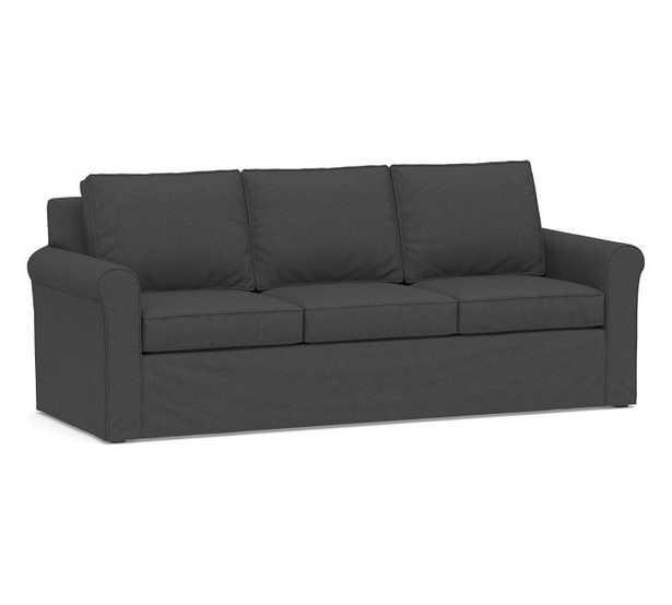 "Cameron Roll Arm Slipcovered Grand Sofa 98"" - Pottery Barn"