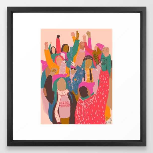 167 Womens march Framed Art Print - Society6