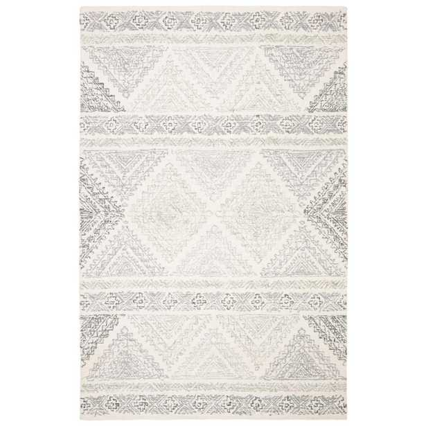 Safavieh Micro-Loop Ivory/Gray 5 ft. x 8 ft. Area Rug - Home Depot