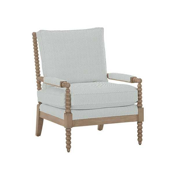 Shiloh Spool Chair_ Elise Mist Insideout Performance - Ballard Designs
