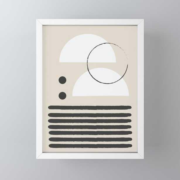 Abstract Modern Art Framed Mini Art Print - Society6