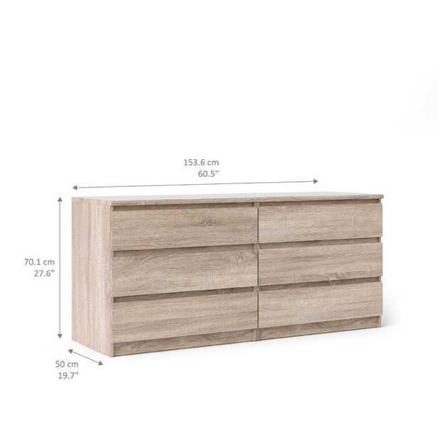 Kepner 6 Drawer Double Dresser - Truffle - Wayfair