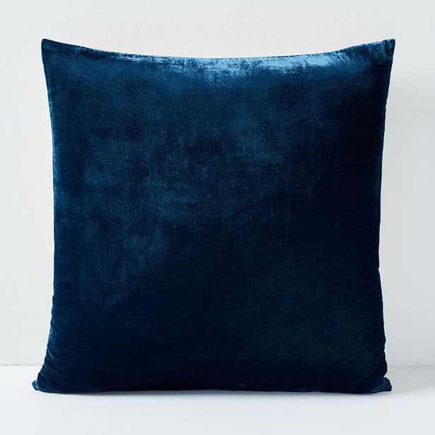 "Lush Velvet Pillow Cover, Regal Blue, 24""x24"" - West Elm"