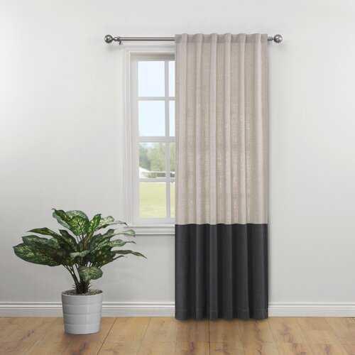 Feld Semi-Sheer Rod Pocket Single Curtain Panel - Wayfair