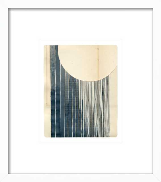 """Not a Circle (False 1) white wood frame with matte - framed 15"""" x 17"""" - Artfully Walls"""