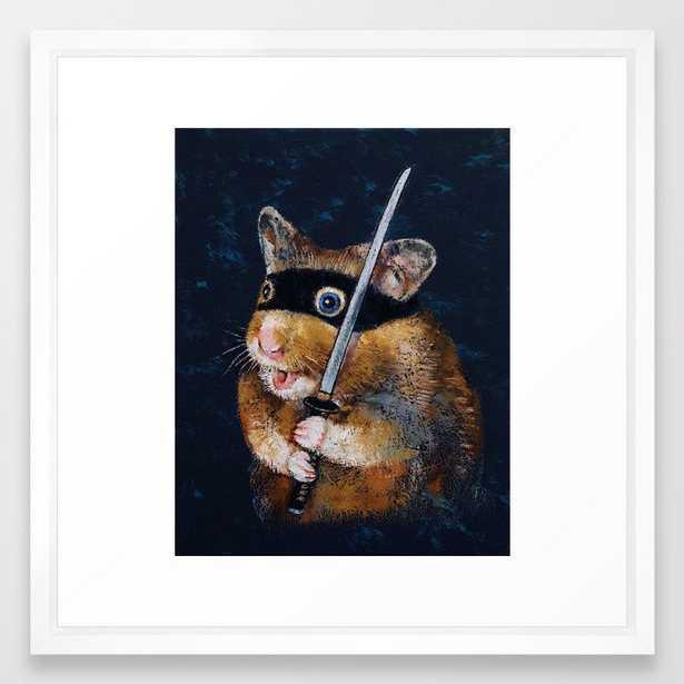 Ninja Hamster Framed Art  print -22x22 - Society6