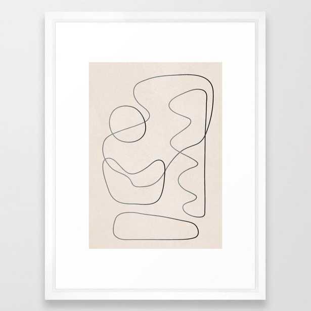 Abstract Line III Framed Art Print - Society6