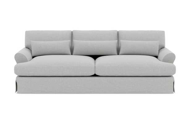 MAXWELL SLIPCOVERED Slipcovered Sofa, Oiled Walnut with Brass Cap Stiletto Leg - Interior Define