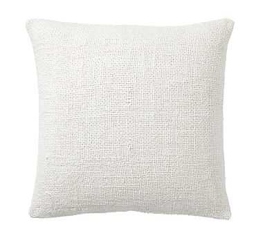 """Faye Textured Linen Pillow Cover, 20"""", Ivory - Pottery Barn"""