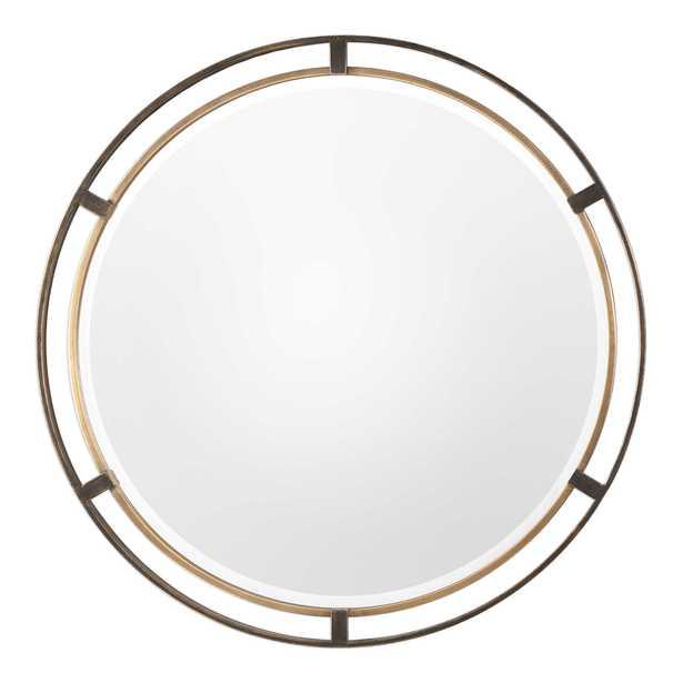 Carrizo Bronze Round Mirror - Hudsonhill Foundry