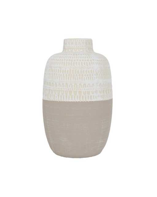 STAMPED TRIBAL VASE, SMALL - McGee & Co.