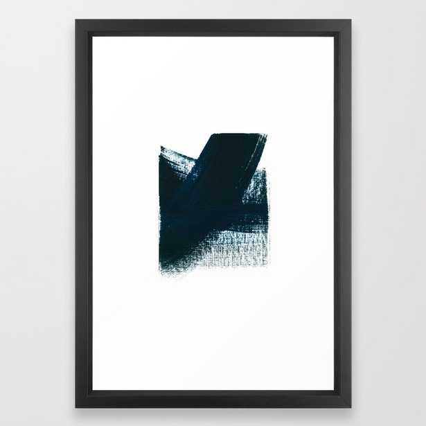 "minimal 2 Framed Art Print - 15""x21"" - Vector Black frame - Society6"