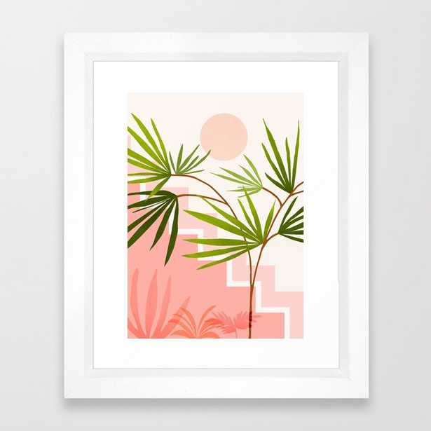 """Summer in Belize - 10"""" X 12"""" - vector white - Society6"""