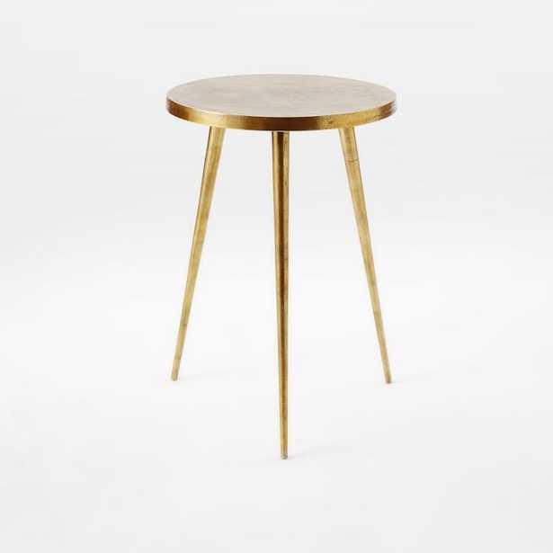 Tripod Side Table, Antique Brass - West Elm