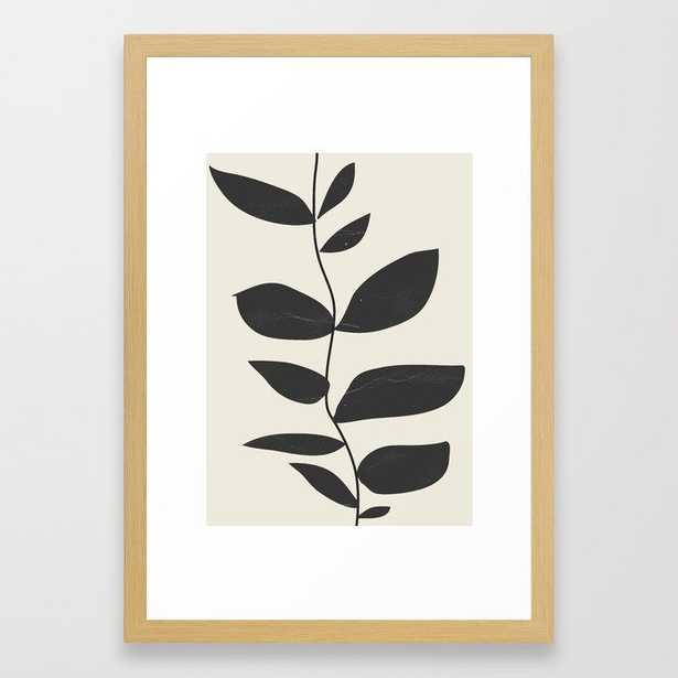 Minimal Plant Framed Art Print - 15x21 - Conservation Natural - Society6
