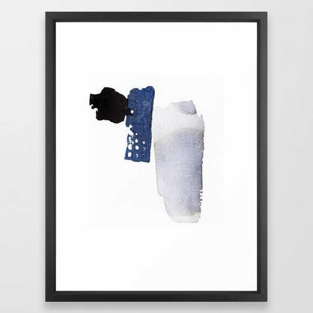 Navy Blue Abstract Framed Art Print - Society6
