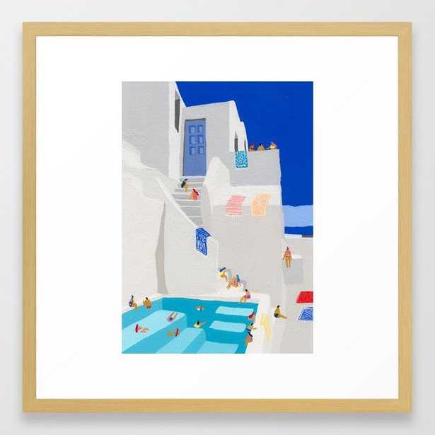 Santorini Sun Framed Art Print - Society6