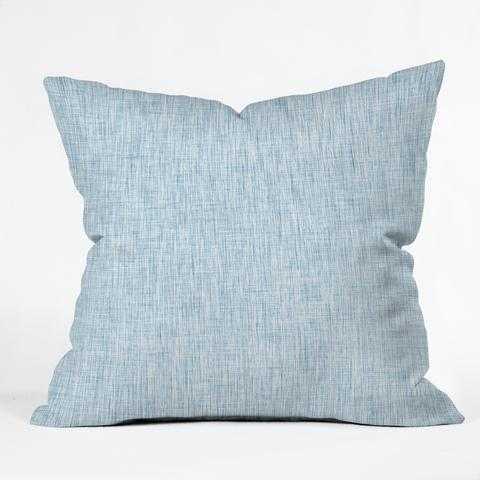 """Linen Acid Wash Pillow, 20"""" x 20"""", Indoor, w/ Insert - Wander Print Co."""