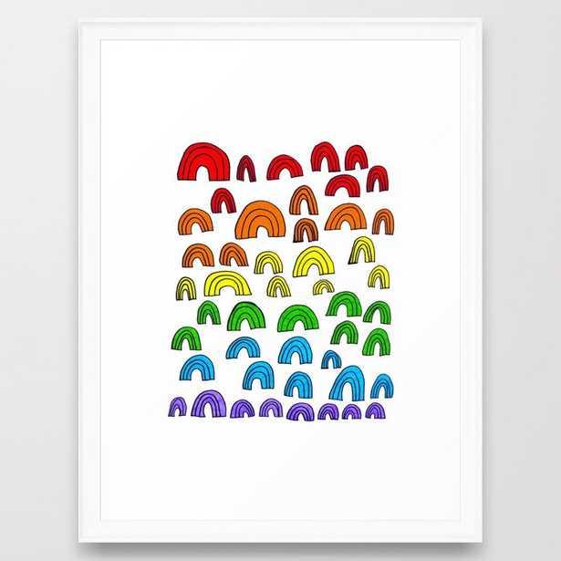 Rainbow Meta Framed Art (20x26 scoop white frame) - Society6