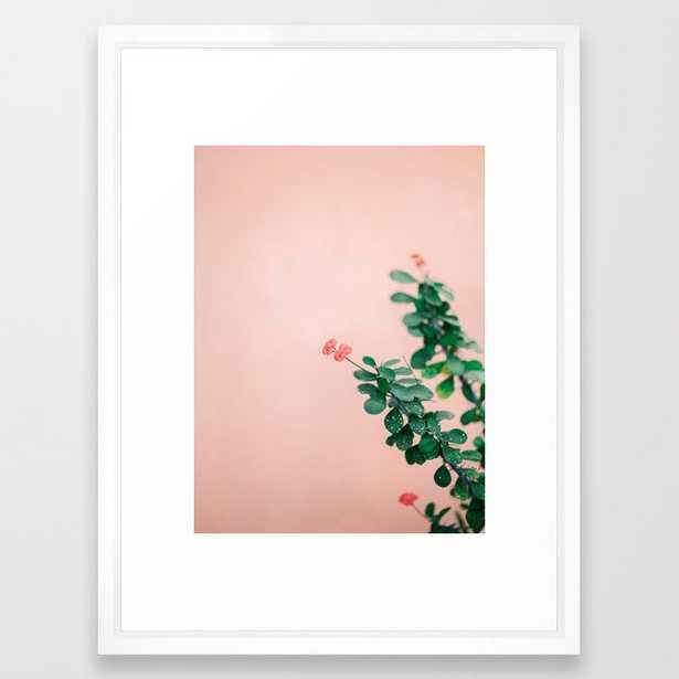 "Floral photography print   Green on coral   Botanical photo art Framed Art Print by raisazwart, 20"" x 26"" - Society6"