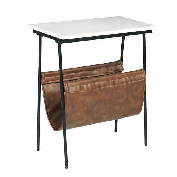Tellis Marble Top End Table with Storage - Wayfair