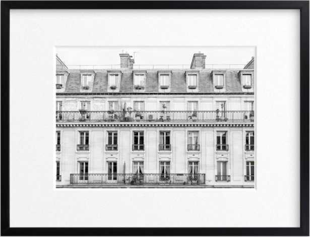 """Days in Paris - 24"""" x 18"""" - classic rich black wood frame - Minted"""