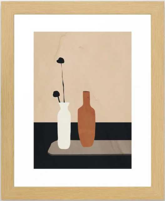 Vases Framed Art Print - Society6