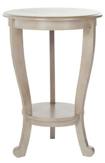 Mary Pedestal Side Table - Vintage Grey - Arlo Home - Arlo Home