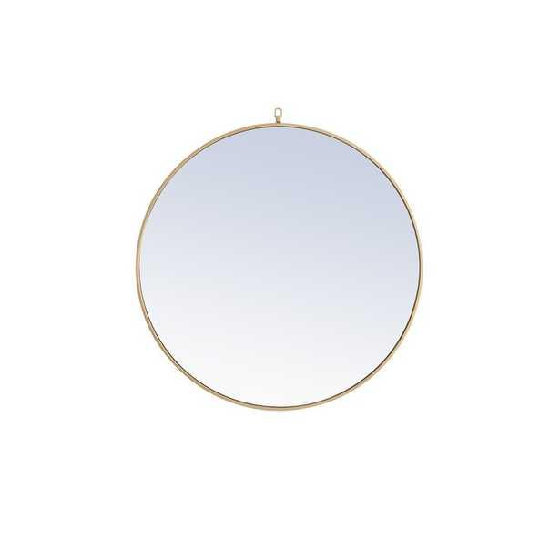 "36"" x 36"" Brass Yedinak Modern and Contemporary Accent Mirror - Wayfair"