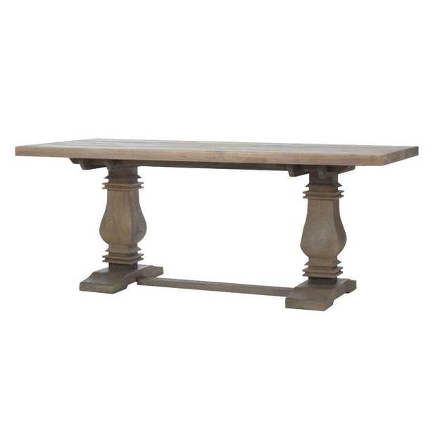 Aldridge Antique Gray Dining Table, Anitque Grey - Home Depot